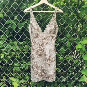 Vintage NWT Scala Beaded Dress